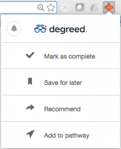 Degreed Button