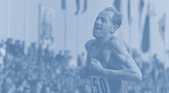 Emil-Zatopek-Running-a-marathon