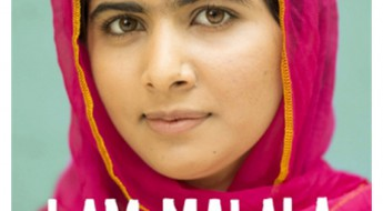 "The cover of Malala's book, ""I Am Malala"""