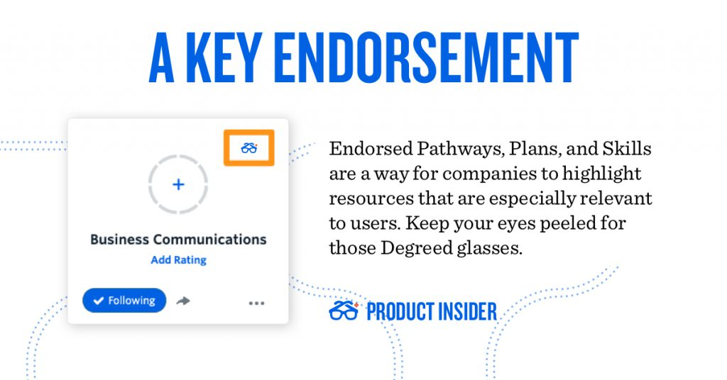 A key endorsement is a way to highlight resources that especially are especially relevant to users.
