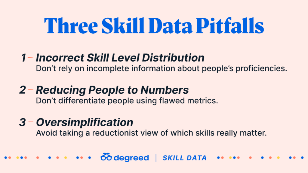 Three skill data pitfalls