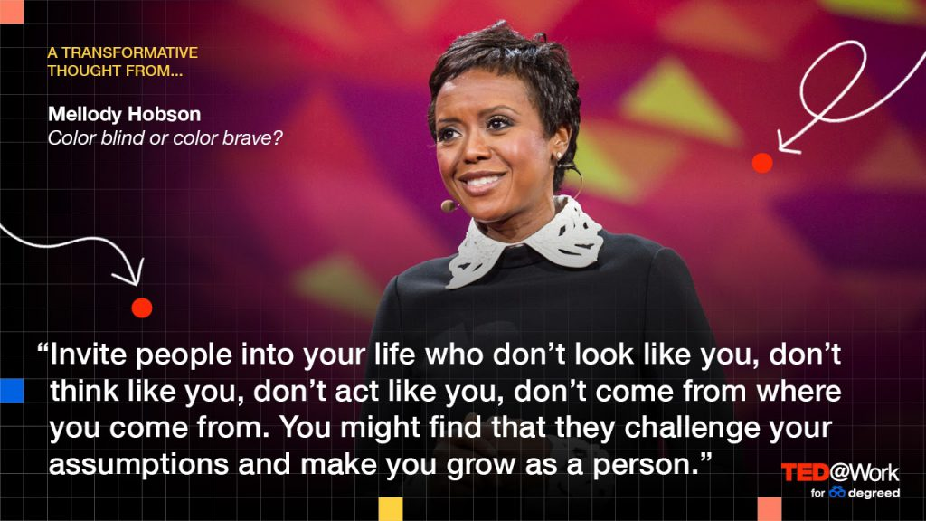 A transformative thought from Mellody Hobson. Color blind or color brave?