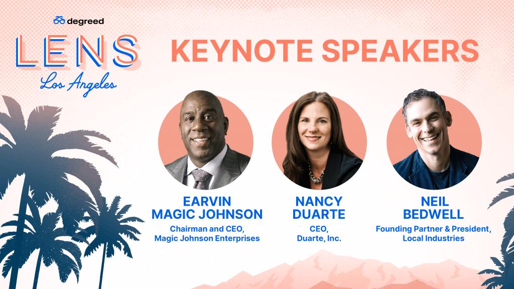 LENS Los Angeles Keynote Speakers Earvin Magic Johnson Nancy Duarte Neil Bedwell